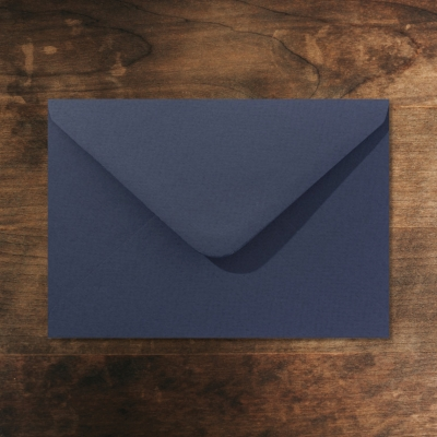Envelop vintage marineblauw